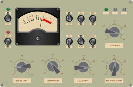Illustration pour Editable vector illustration of analog control panel - image libre de droit