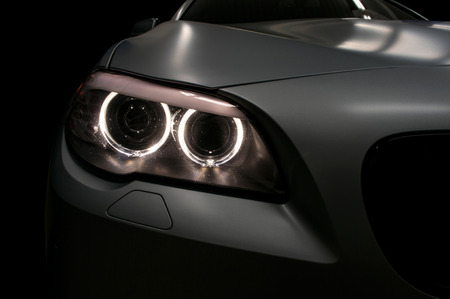 Foto per Car headlights. Exterior detail. - Immagine Royalty Free