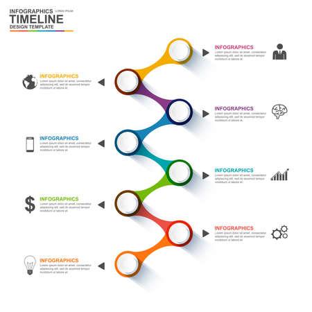 Illustration pour Infographics design template - image libre de droit