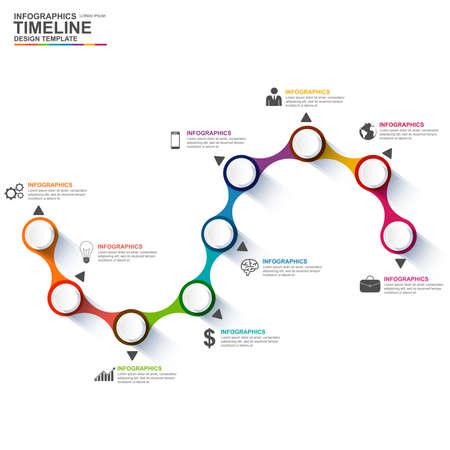 Illustration pour Infographics vector design template - image libre de droit