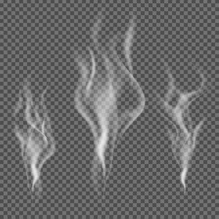 Ilustración de Realistic smoke vector on transparent background - Imagen libre de derechos