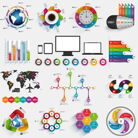 Illustration pour Collection of infographic vector design template - image libre de droit
