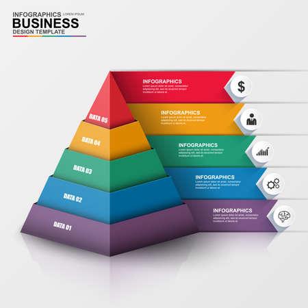 Ilustración de Abstract 3D digital business Infographic - Imagen libre de derechos