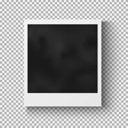 Illustration pour Realistic photo frame with shadow on plaid background - image libre de droit