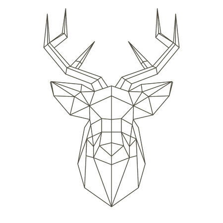 Illustration pour Polygonal head of deer - image libre de droit