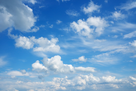 Photo for Beautiful cloudscape over horizon. Blue sky and clouds. - Royalty Free Image