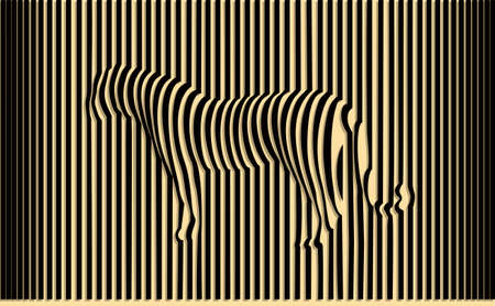 Ilustración de Wild tiger optical illusion vector illustration - Imagen libre de derechos