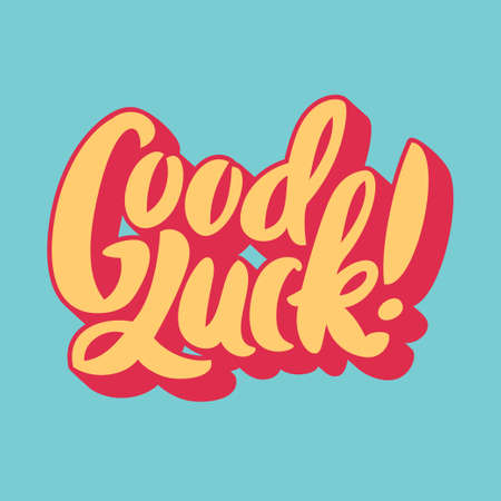 Illustration for Good luck. Hand lettering. - Royalty Free Image