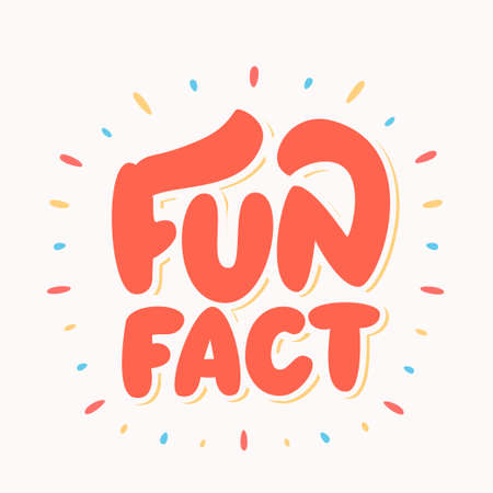 Illustrazione per Fun fact Cute lettering. - Immagini Royalty Free