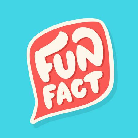 Ilustración de Fun fact. Vector lettering. Vector hand drawn illustration. - Imagen libre de derechos