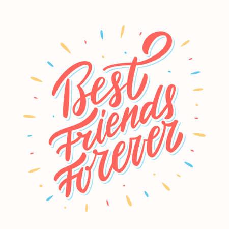 Foto für Best Friends Forever. Hand lettering. - Lizenzfreies Bild