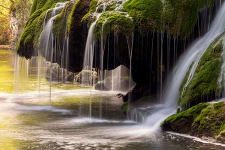 Photo for Beautiful mountain waterfall. Bigar Waterfall - Royalty Free Image