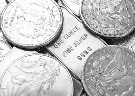 Foto de Silver coins - Imagen libre de derechos