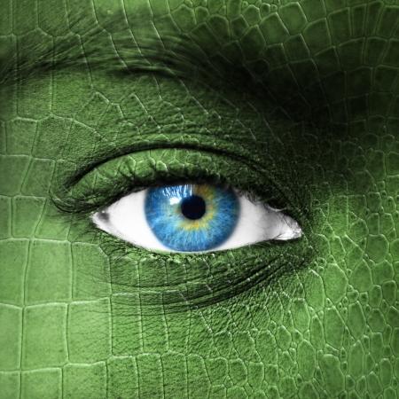 Human eye with lizard skin texture - Mutation concept