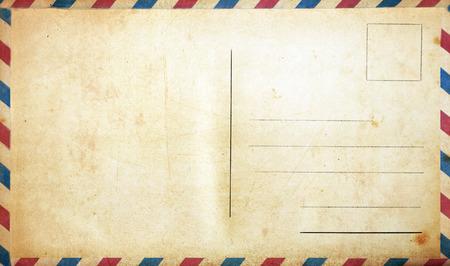 Photo pour Blank vintage postcard - image libre de droit