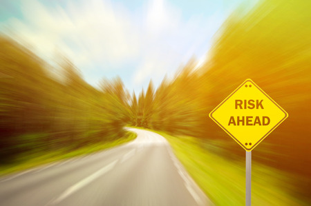 Photo pour RISK AHEAD sign - Business concept - image libre de droit