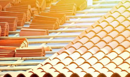 Foto de Roof construction - Imagen libre de derechos