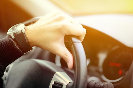 Foto de Man driving car concept - Imagen libre de derechos