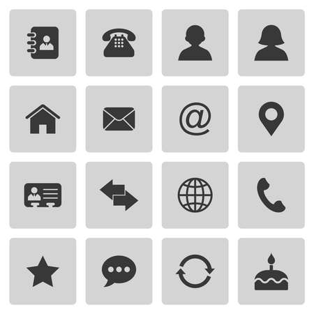 Illustration pour Contact icons - image libre de droit