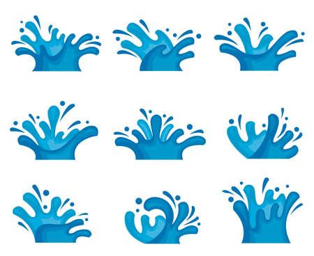 Illustration pour abstract image of water set - image libre de droit
