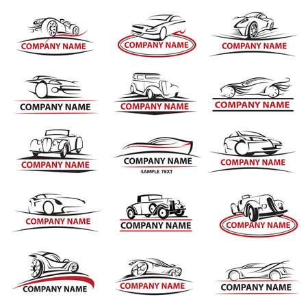 Ilustración de set of fifteen car icons - Imagen libre de derechos