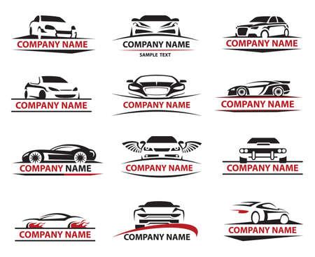 Photo pour set of twelve car icons set - image libre de droit