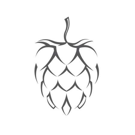 Ilustración de illustration of hops for brewing - Imagen libre de derechos