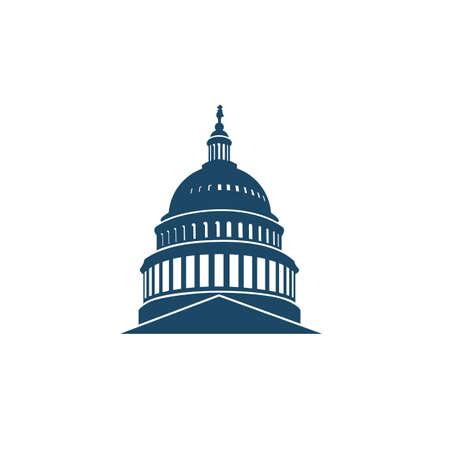Illustration pour United States Capitol building icon in Washington DC - image libre de droit