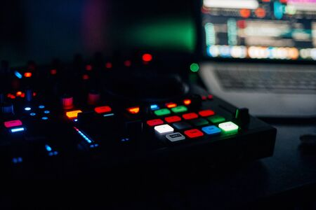 Photo for music mixer DJ controller Board for professional mixing - Royalty Free Image