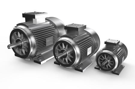 Photo pour Industrial electric motors  isolated on white background - image libre de droit