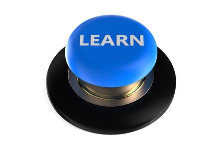 Photo pour learn push button isolated on white background - image libre de droit