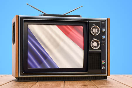 Foto de French Television concept, 3D rendering - Imagen libre de derechos