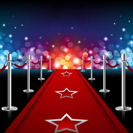 Illustration pour Luxury Red Carpet - image libre de droit