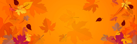 Illustration pour Banner on the autumn theme - image libre de droit