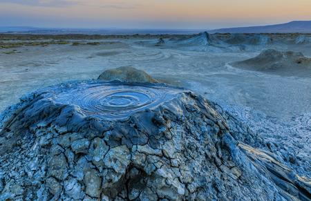 Photo pour Mud volcanoes in Gobustan.Azerbaijan - image libre de droit
