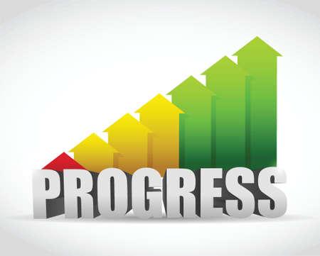 Ilustración de progress business graph illustration design over a white background - Imagen libre de derechos