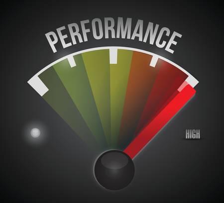 Illustration pour performance level measure meter from low to high, concept illustration design - image libre de droit