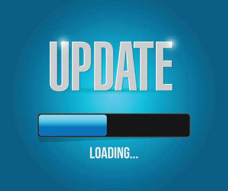 Illustration pour updates loading concept illustration design over a blue background - image libre de droit