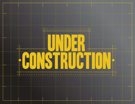 Photo pour under construction sign illustration design over a black background - image libre de droit