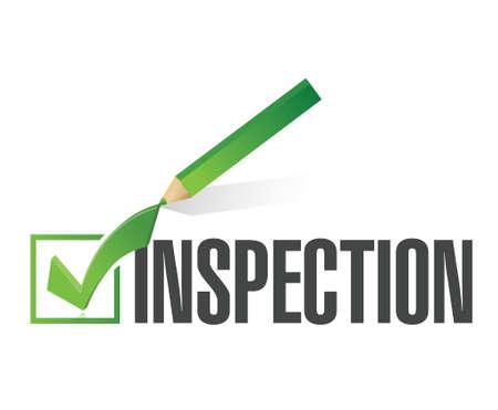 Illustration pour inspection check mark illustration design over a white background - image libre de droit