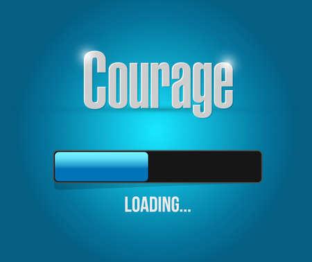 Illustration pour courage loading bar sign concept illustration design graphic - image libre de droit
