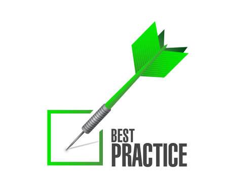 Illustration pour best practice check mark sign concept illustration design graphic - image libre de droit