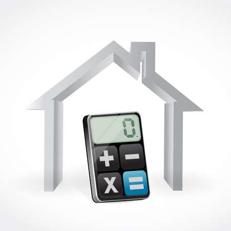 Ilustración de calculating house payments. vector illustration design over white background. - Imagen libre de derechos