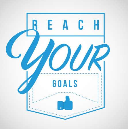 Ilustración de reach your goals Modern stamp message design isolated over a white background - Imagen libre de derechos