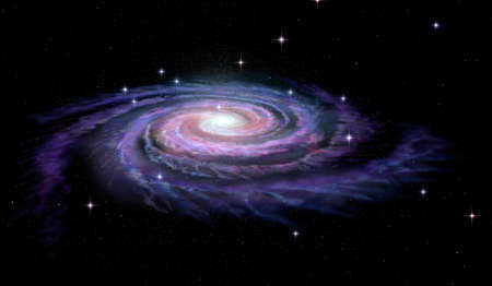 Spiral Galaxy Milky Way mural
