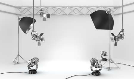 Photo for Empty photo studio with interior equipment - Royalty Free Image