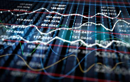 Foto de Stock exchange graph background - Imagen libre de derechos