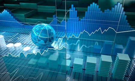 Foto de Stock exchange board abstract background - Imagen libre de derechos