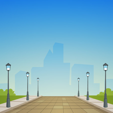 Illustration pour City Street - image libre de droit
