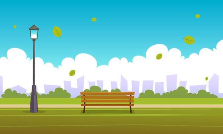 Illustration pour Summer City Park - image libre de droit